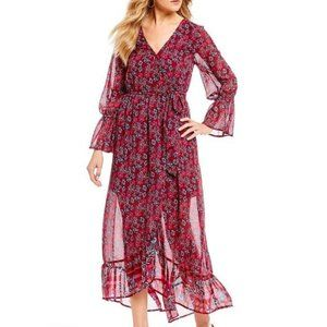 Band of Gypsies Collective Red Floral Maxi XS